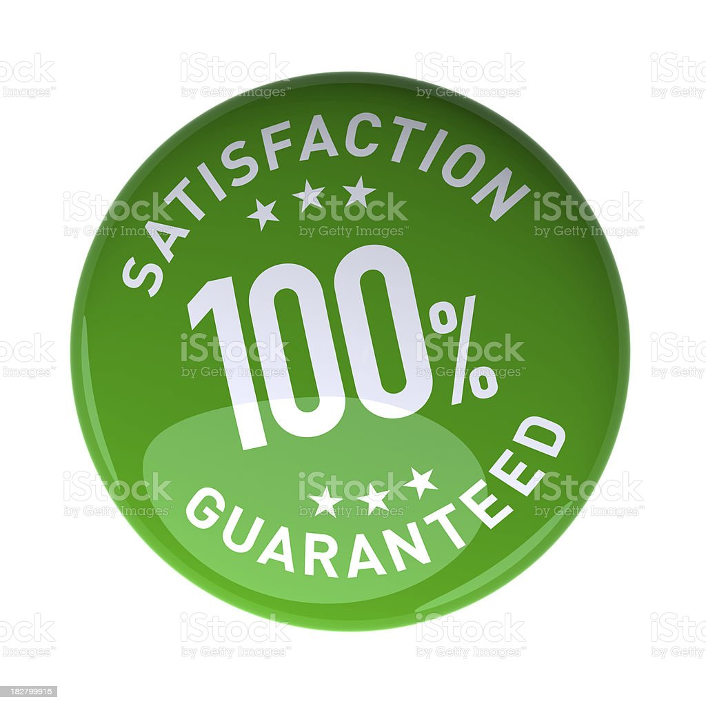 Badge 100% Satisfaction guaranteed royalty-free stock photo