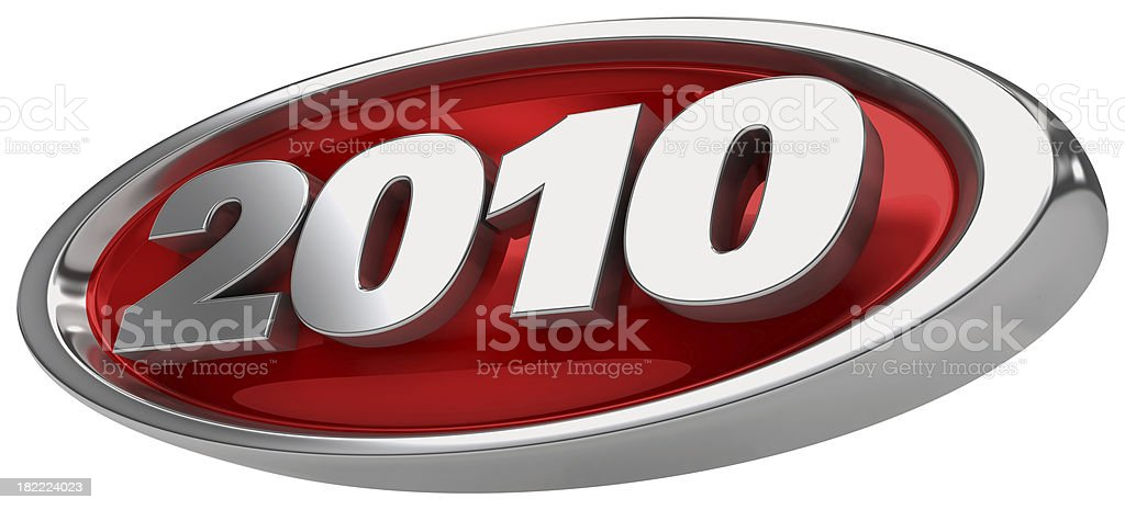 badge 2010 royalty-free stock photo