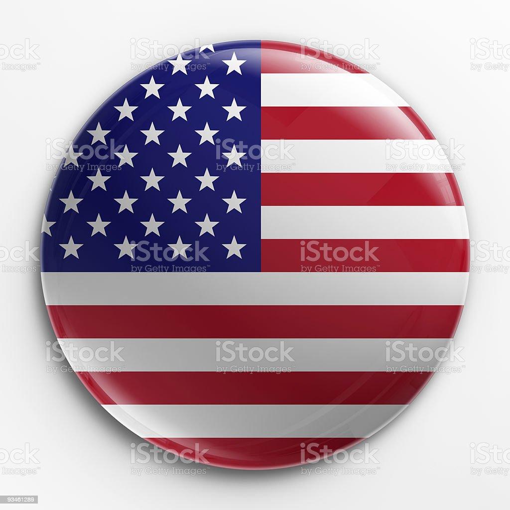 Badge - American flag royalty-free stock photo