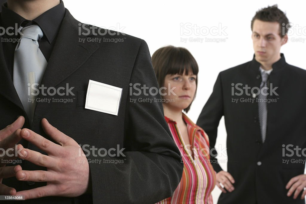 Badge and business team royalty-free stock photo