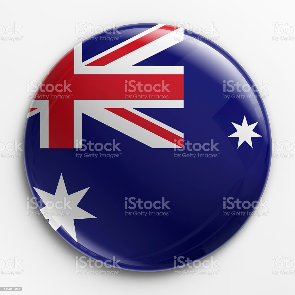 Badge - Australian flag stock photo