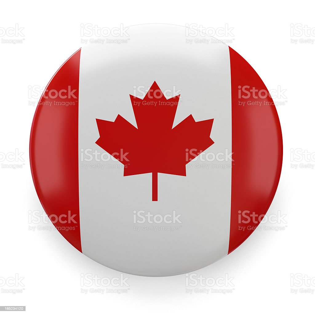 Badge - Canadian stock photo