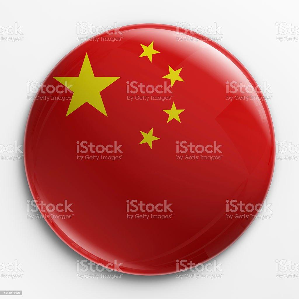 Badge - Chinese flag stock photo