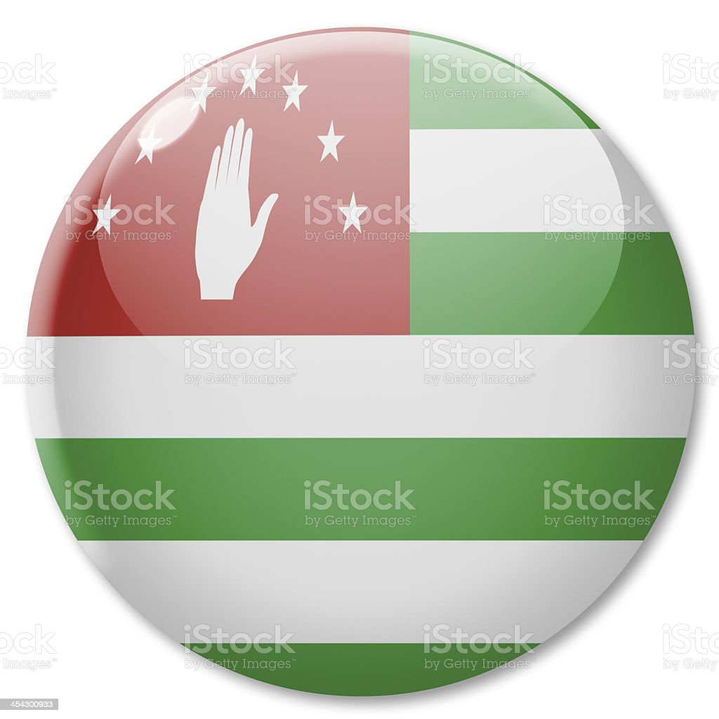 Badge - flag of Abkhazia royalty-free stock photo