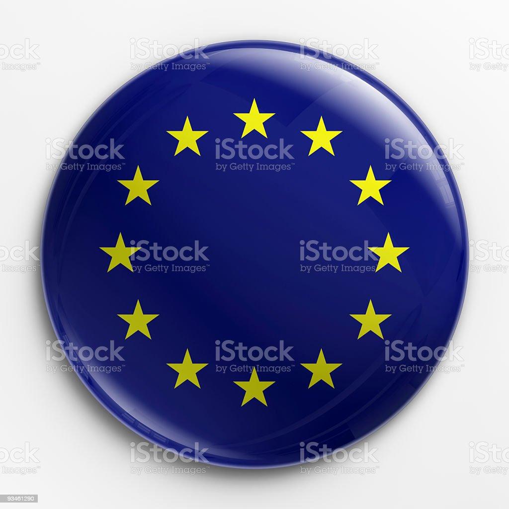 Badge - flag of Europe royalty-free stock photo