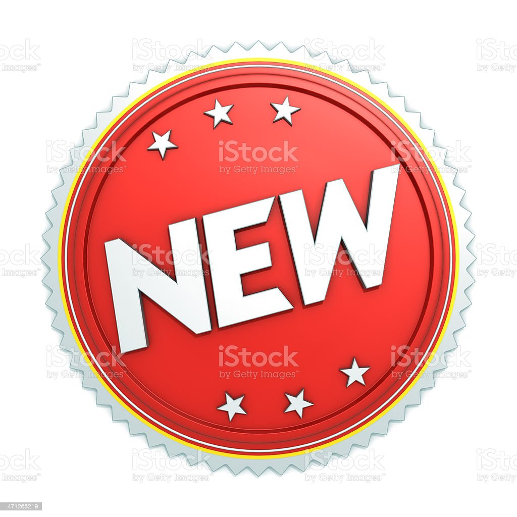 Badge icon NEW royalty-free stock photo