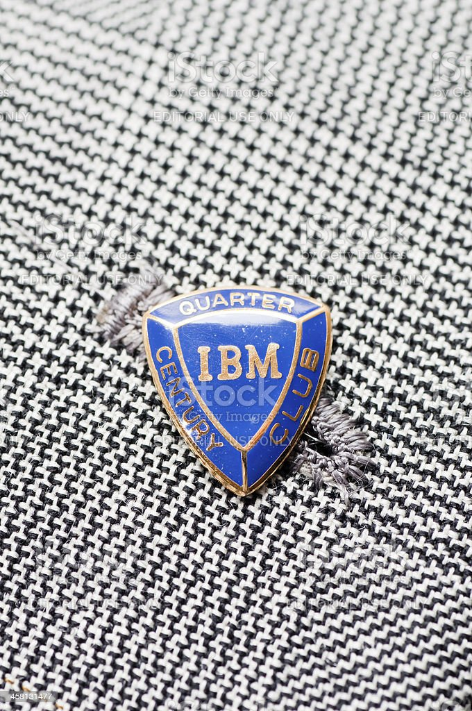 IBM badge on the lapel royalty-free stock photo