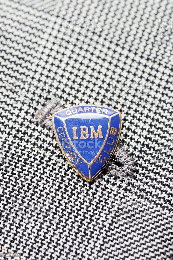 IBM badge on the lapel stock photo