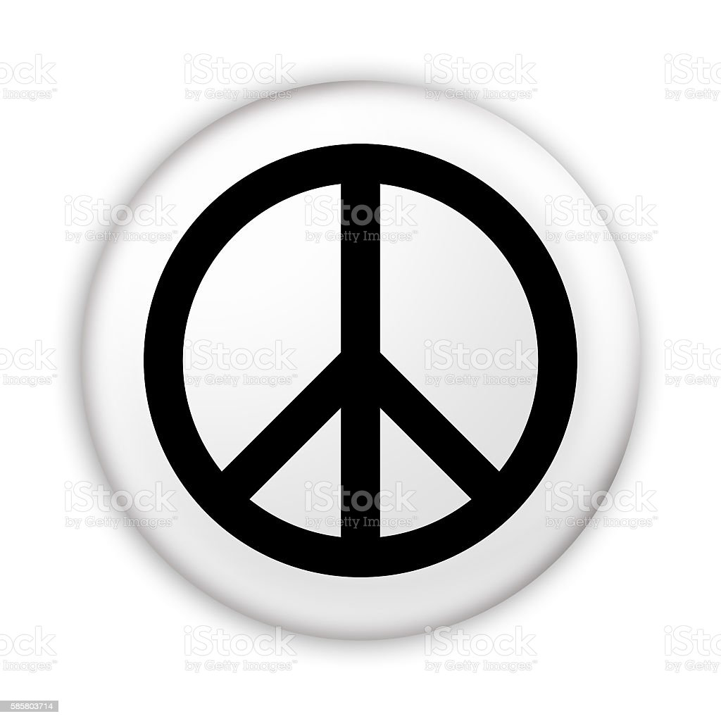 Badge Peace symbol, 3d illustration stock photo