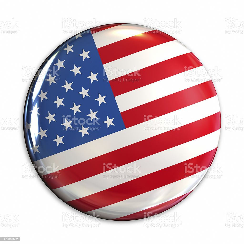Badge USA stock photo