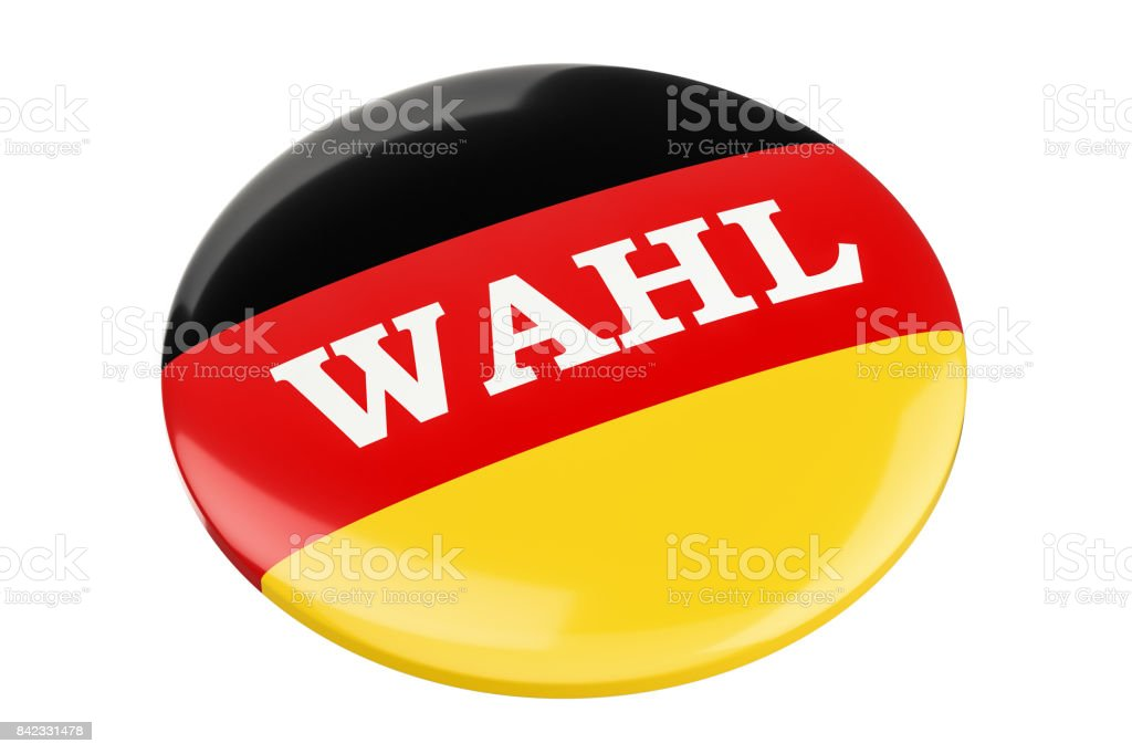Badge Wahl, 'election' inscription concept. 3D rendering stock photo