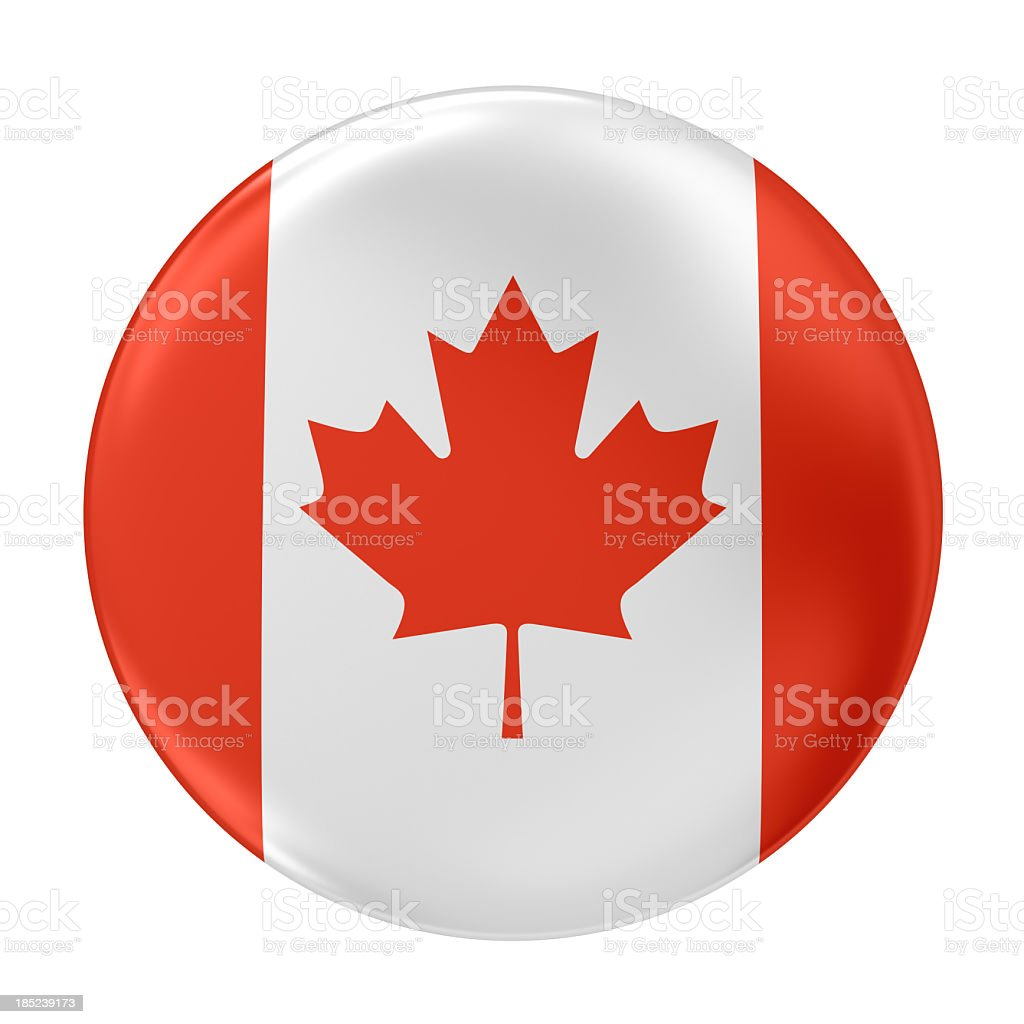 badge with canadian flag royalty-free stock photo