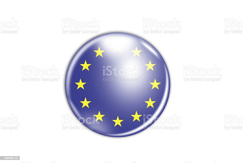 badge with the flag of Europe stock photo