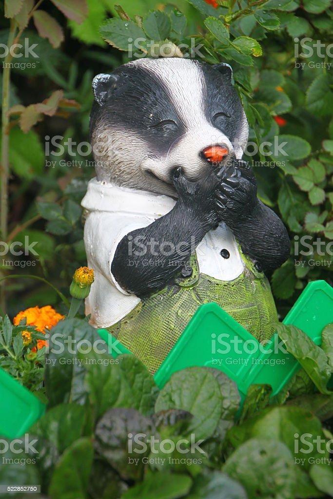 Badger garden figure stock photo