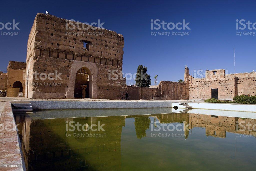 Badi Palace in Marrakech. stock photo