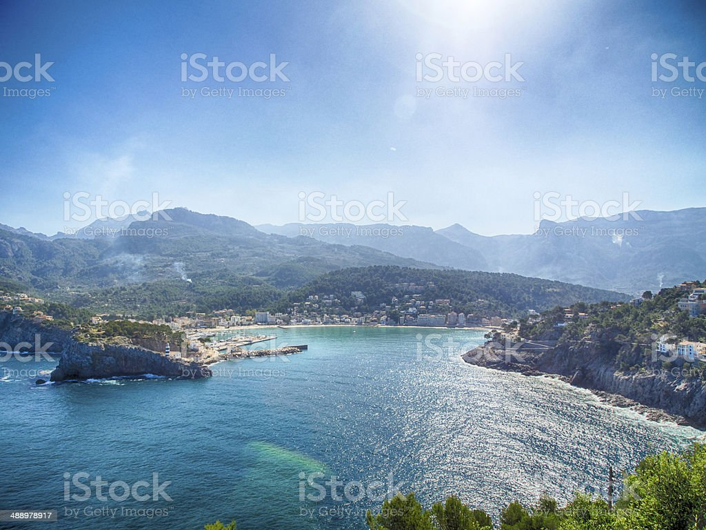 Badia de Soller stock photo