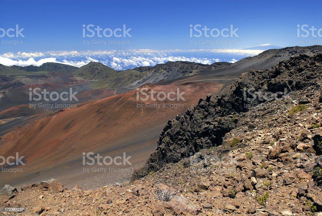 Badland at Haleakala National Park royalty-free stock photo