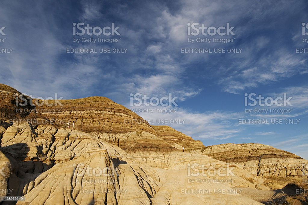 Badland formations near Drumheller, Alberta royalty-free stock photo