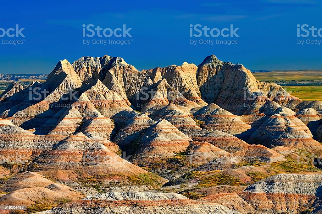 Badlands 7 stock photo