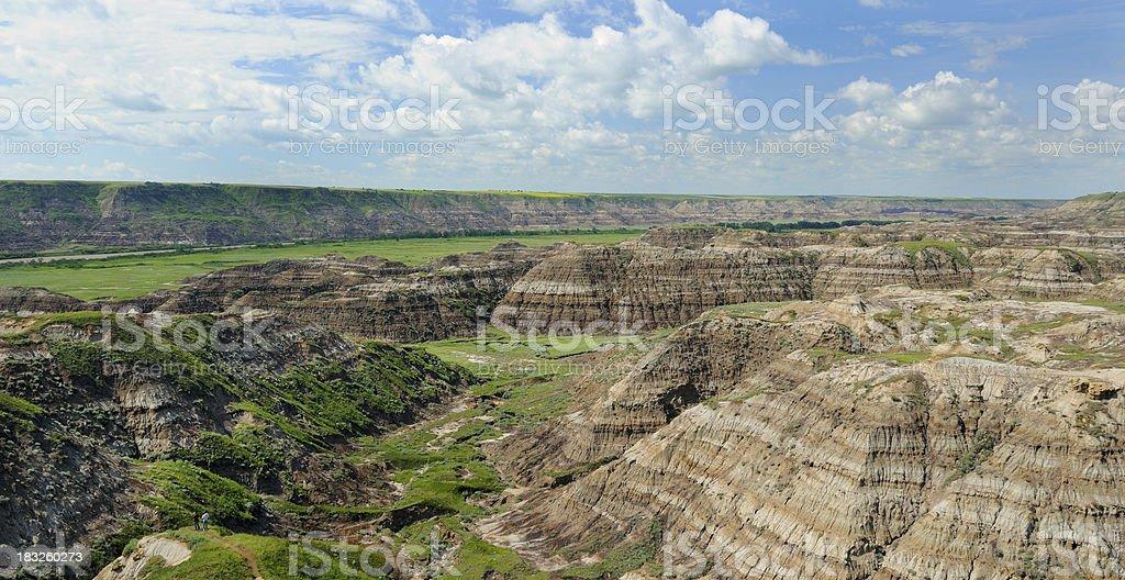 Badlands at Horse Thief Canyon stock photo