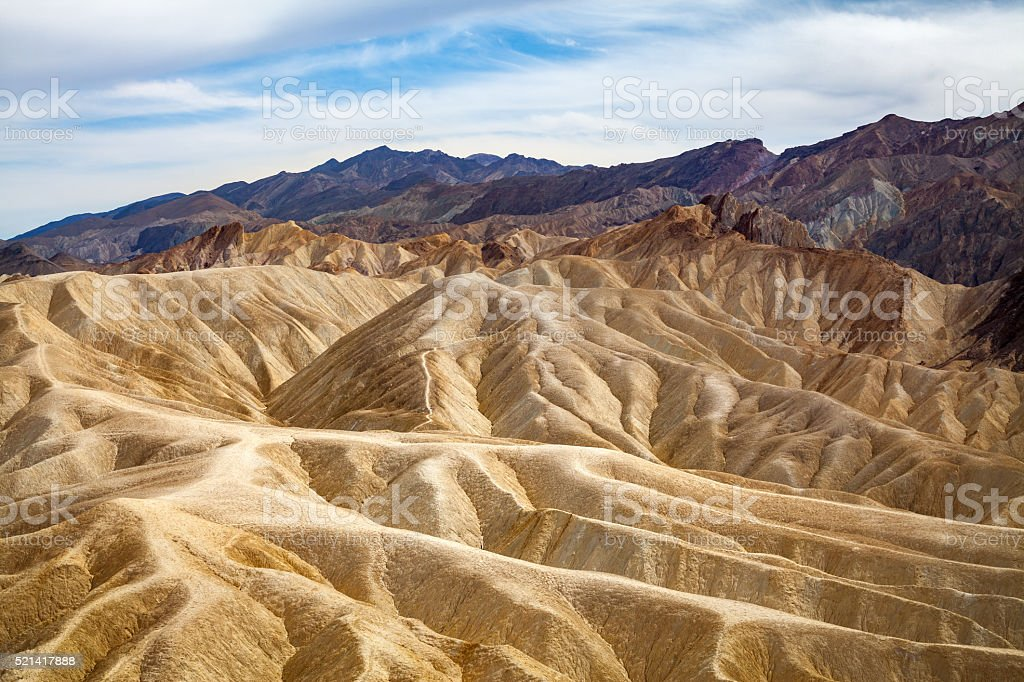 Badlands At Zabriskie Point, Death Valley royalty-free stock photo