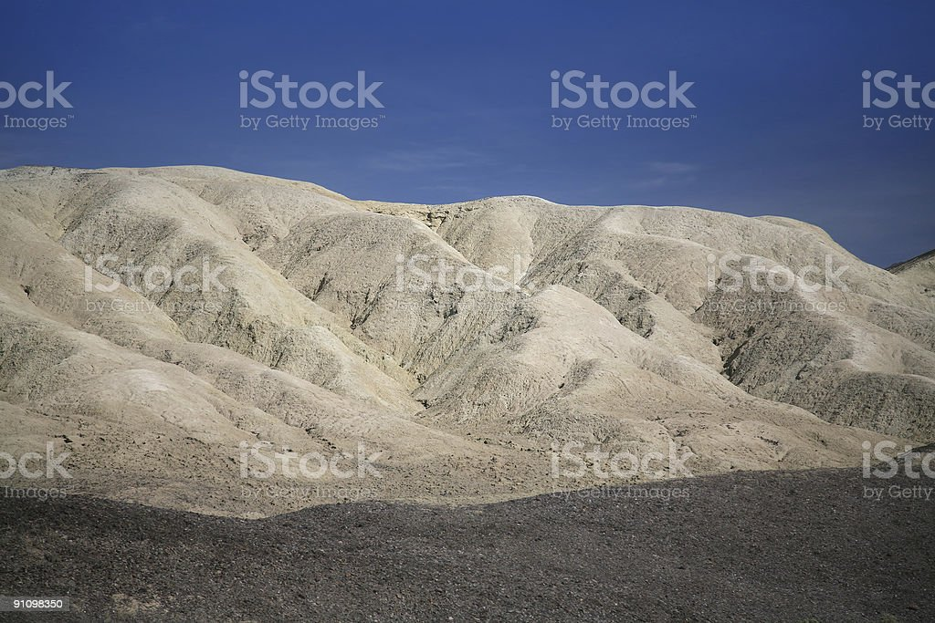 Badlands, Death Valley royalty-free stock photo