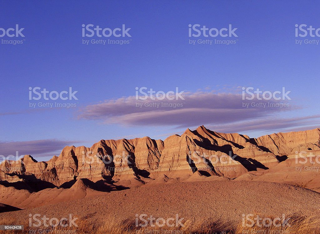 Badlands formations stock photo