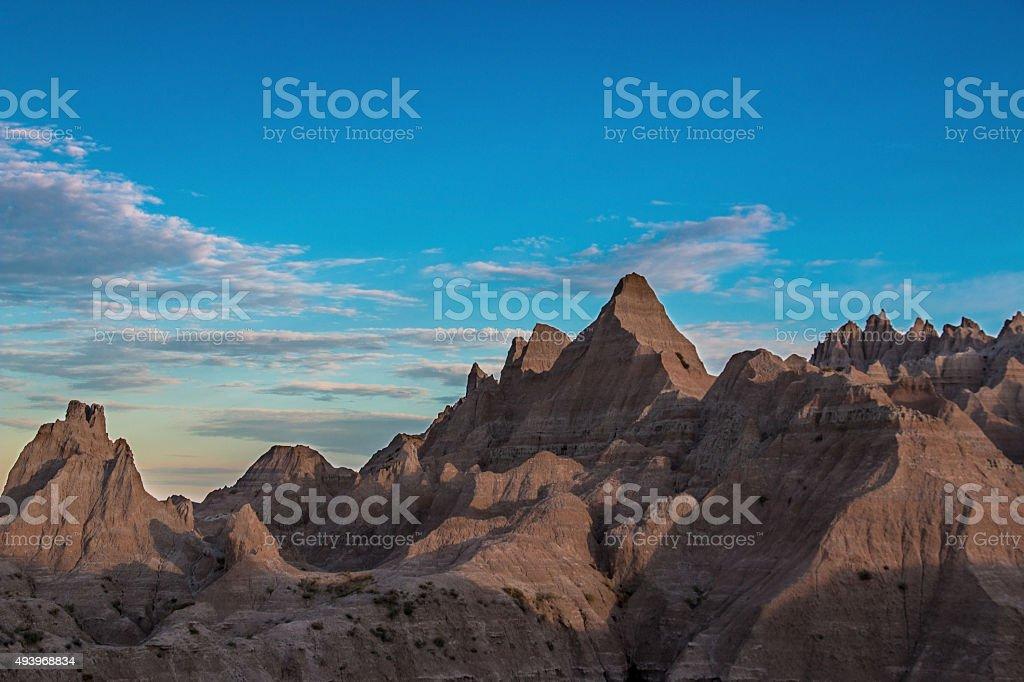 Badlands Hoodoos at Sunrise stock photo