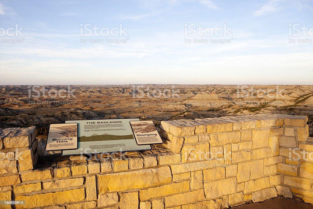 Badlands in North Dakota royalty-free stock photo