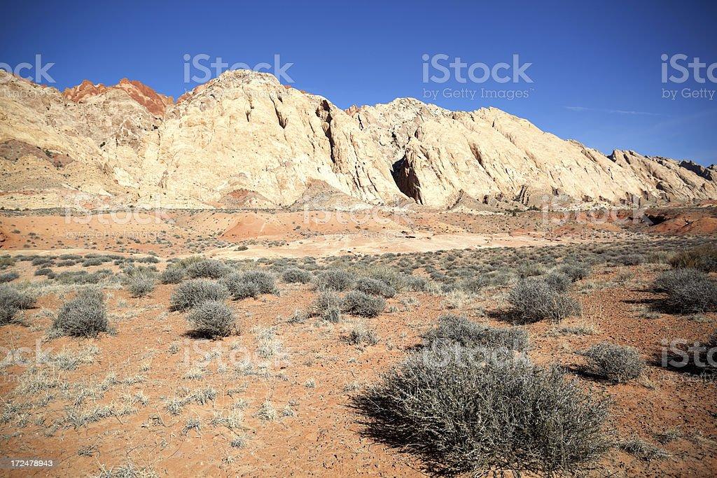 badlands landscape stock photo