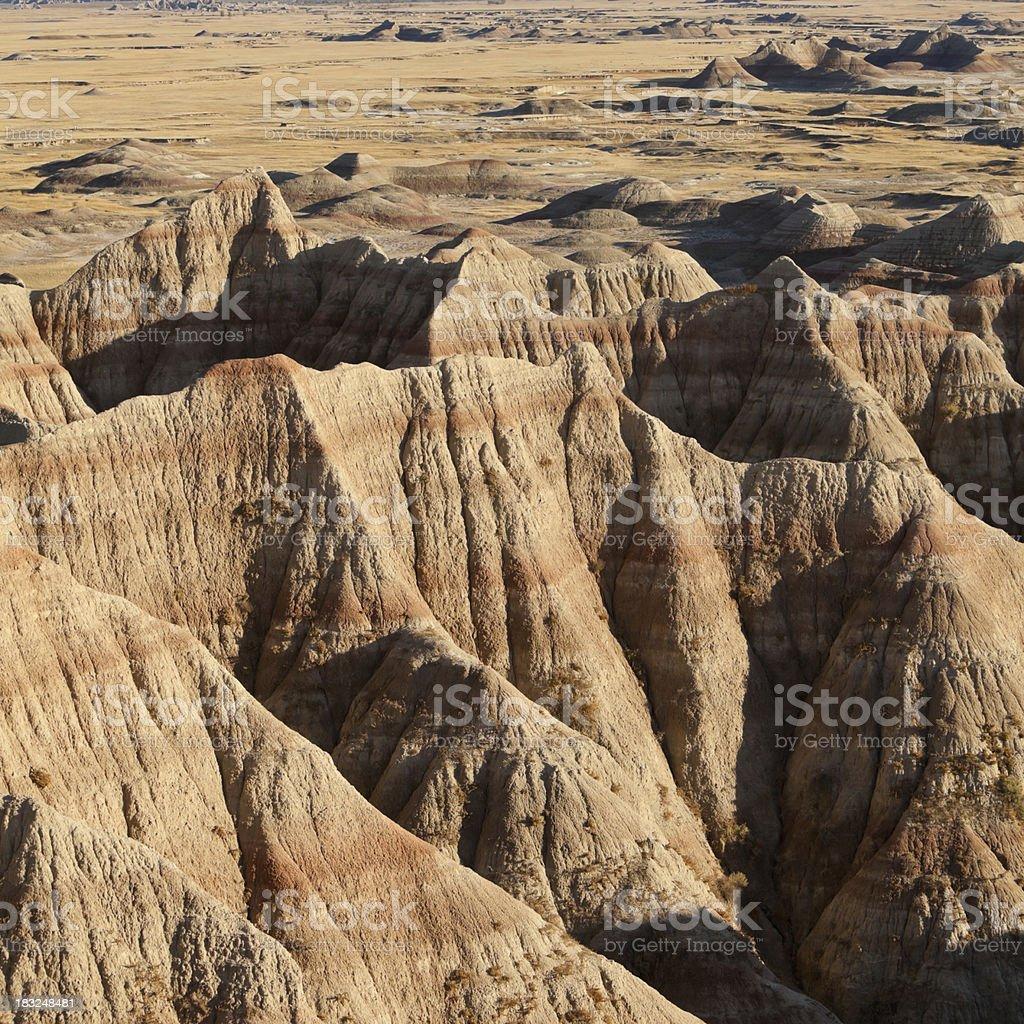 Badlands National Park in South Dakota stock photo