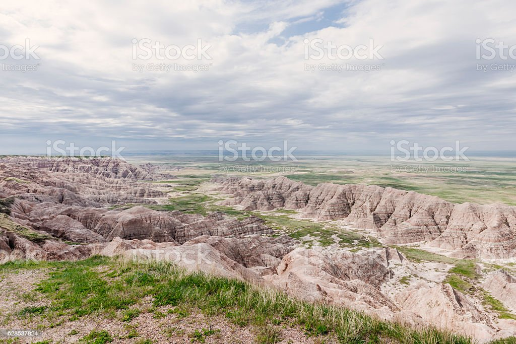 Badlands National Park Majestic South Dakota Western American Landscape stock photo