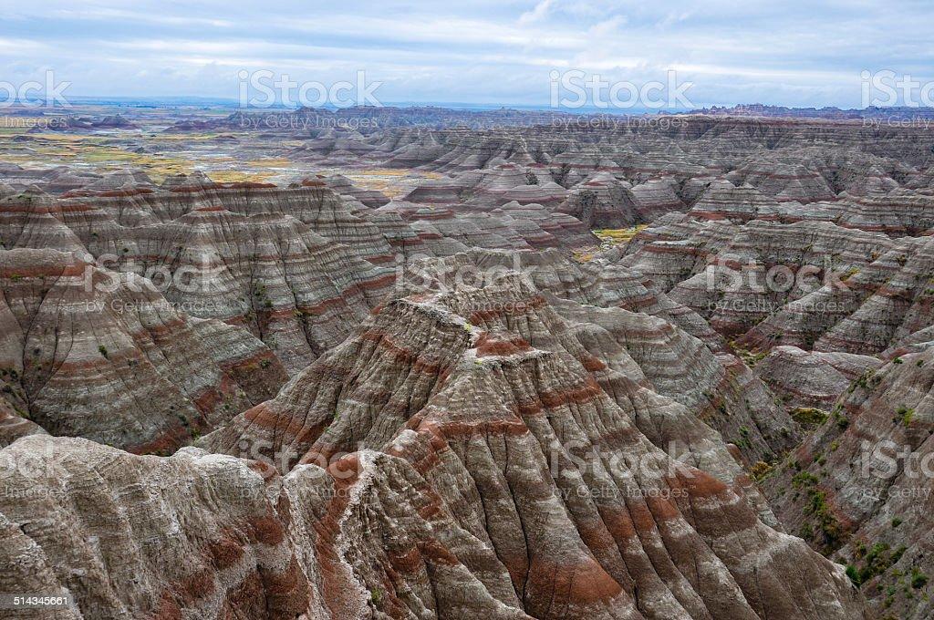 Badlands National Park, South Dakota, USA stock photo