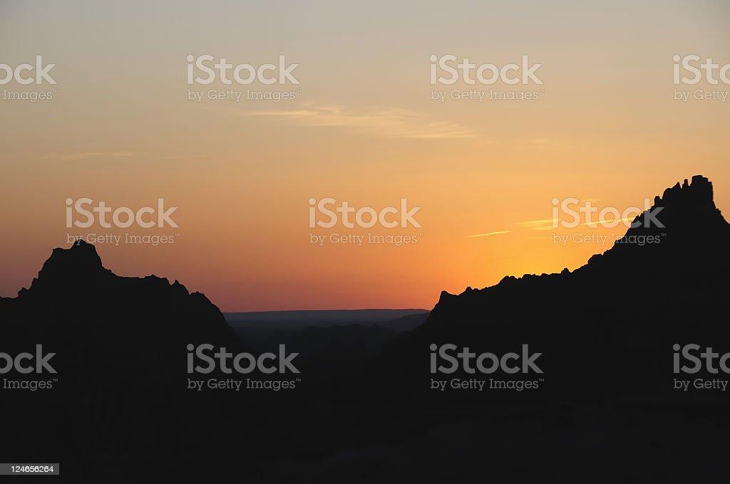 Badlands National Park Sunset royalty-free stock photo