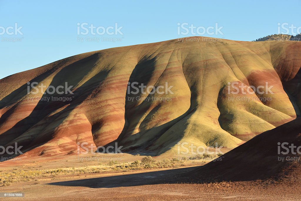 Badlands of Oregon, USA stock photo