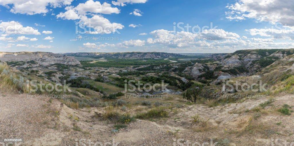 Badlands Panoramic stock photo