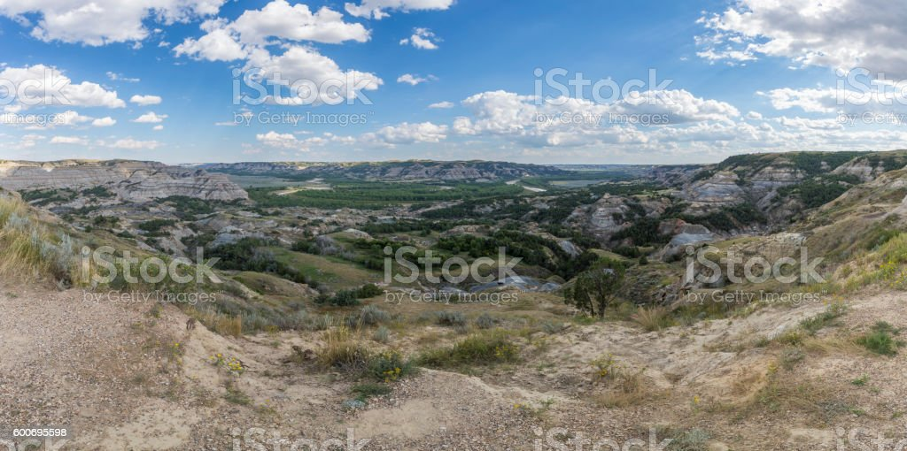 Badlands Panoramic stock photo