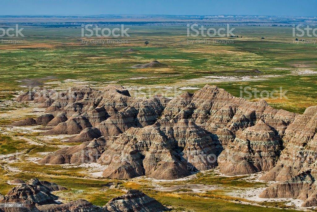 Badlands stock photo
