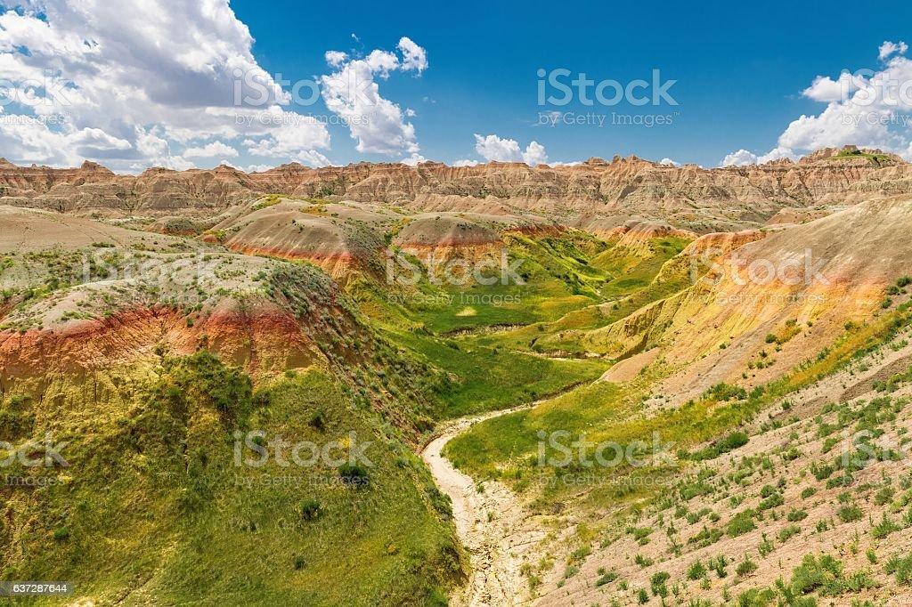 Badlands Rolling Hills stock photo