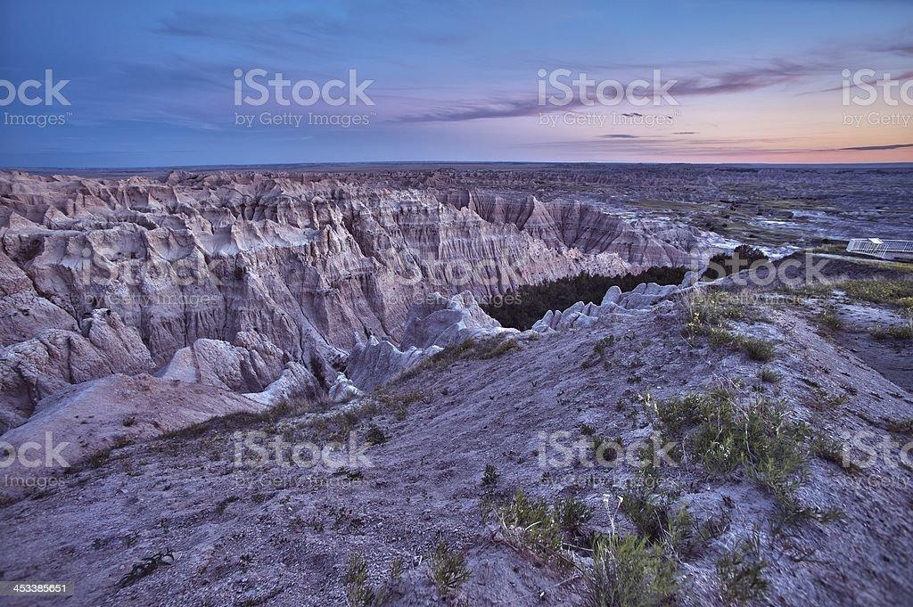 HDR Badlands Scenic stock photo