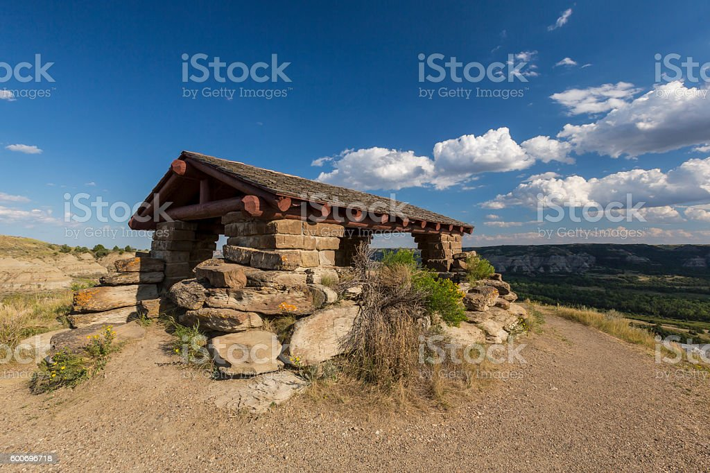 Badlands Scenic Shelter stock photo