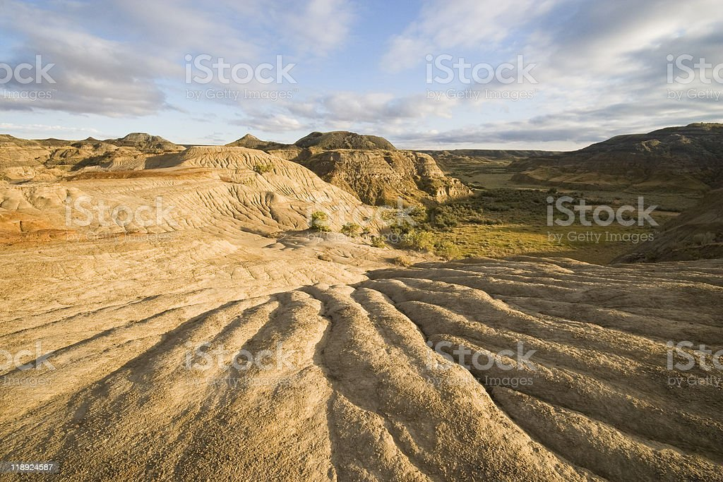 badlands shapes stock photo