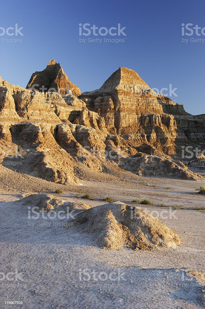 Badlands Sunrise (V) stock photo