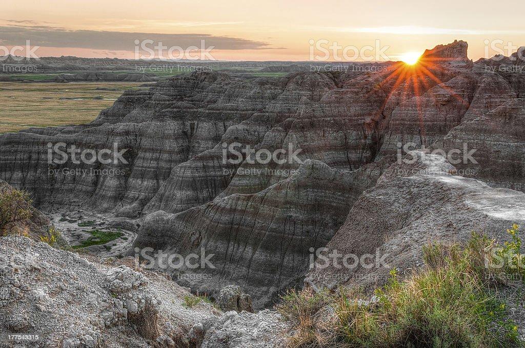 Badlands Sunset royalty-free stock photo