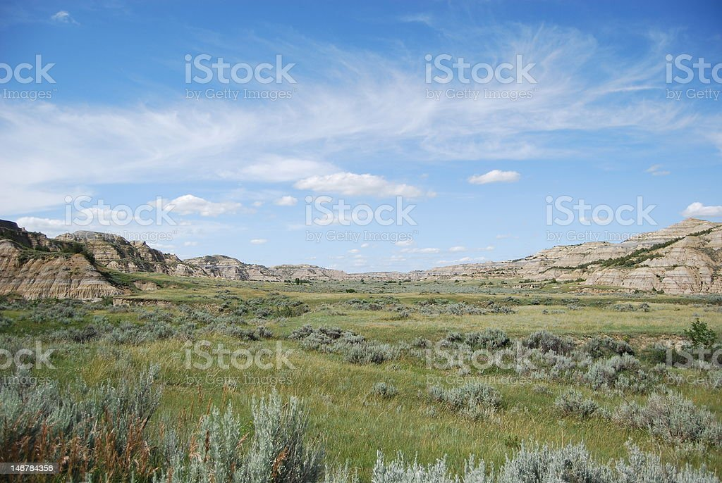 Badlands View, North Dakota royalty-free stock photo