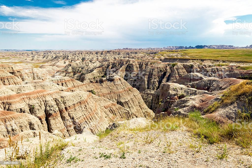 Badlands Wilderness stock photo