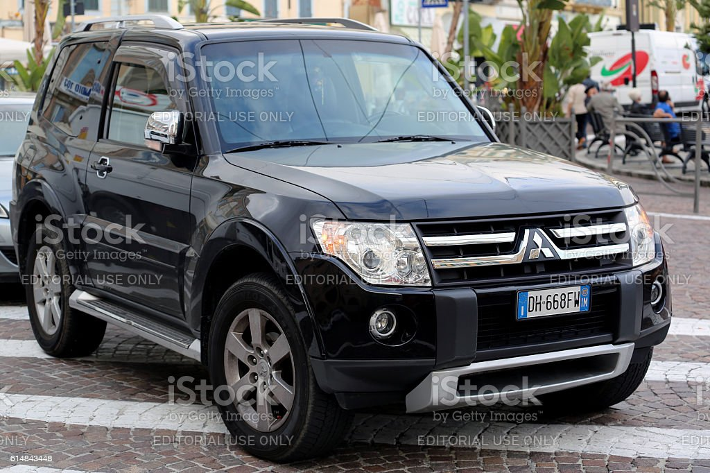 Badly Parked SUV stock photo