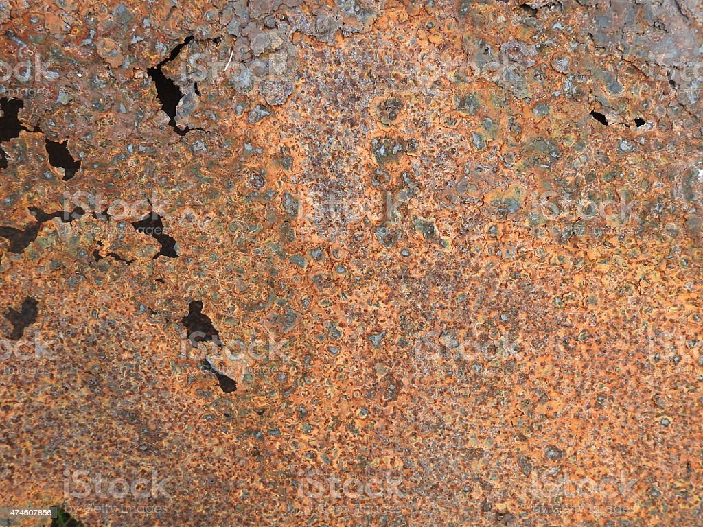 Badly rusted steel royalty-free stock photo