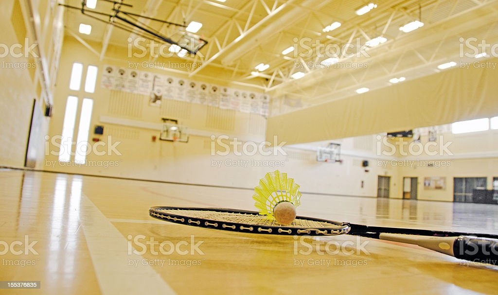 Badminton and Gym royalty-free stock photo