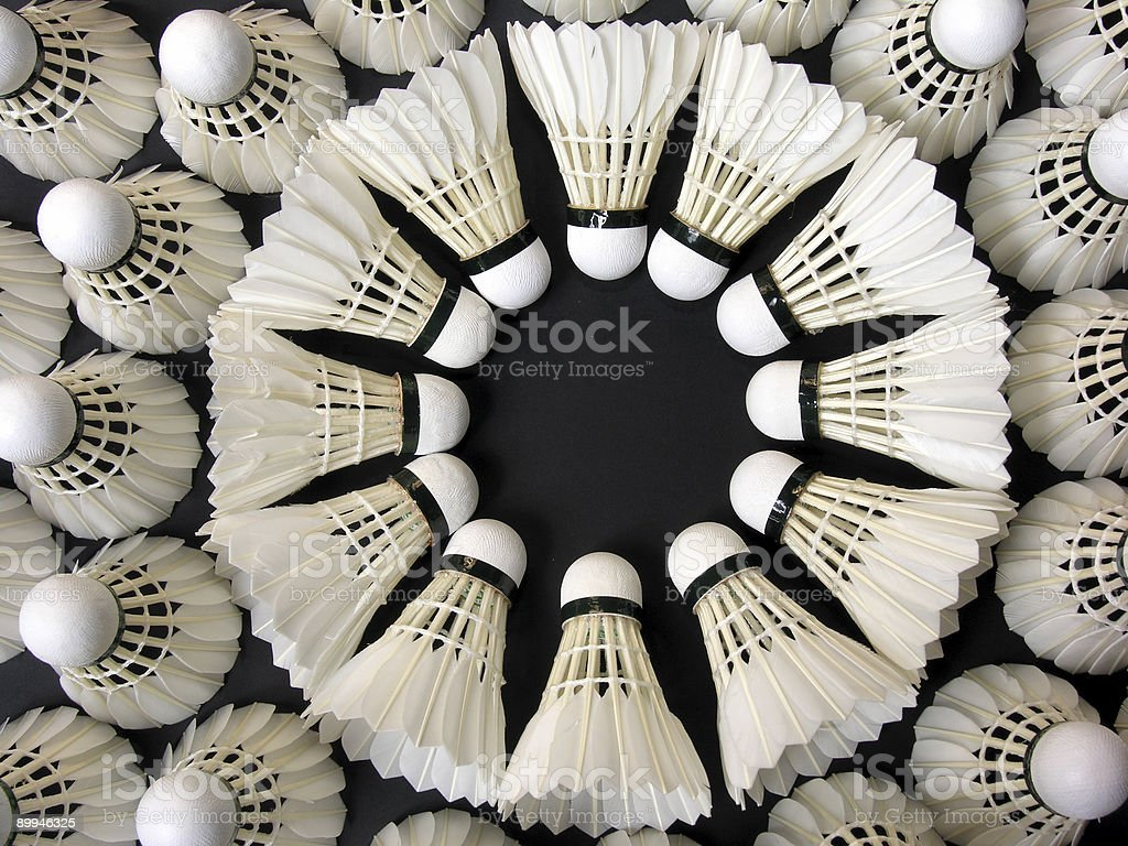 Badminton Balls in a Circle royalty-free stock photo
